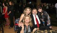 Joe M with onscreen daughters