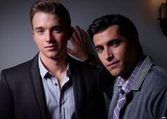 Chandler Massey as Will Horton and Freddie Smith as Sonny Kiriakis