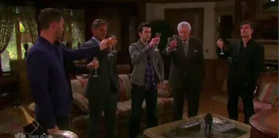 Kiriakis men toast