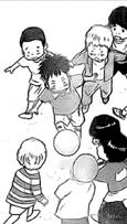 Little Kurusu playing soccer