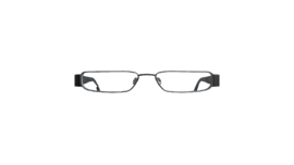 Glasses with thin frames (P-W)