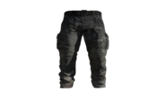 Black Cargo Pants Model (D-BD)