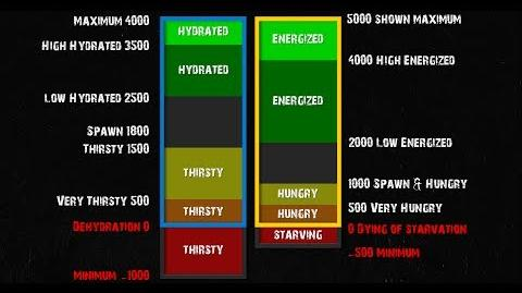 DayZ Guide Updated New Status Effects for Energized and Hydrated explained