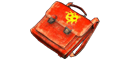 Red briefcase