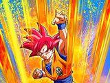Becoming a God Super Saiyan God Goku