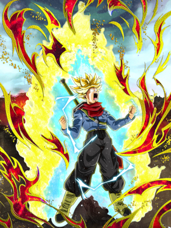 Fake rage trunks card cakebuu