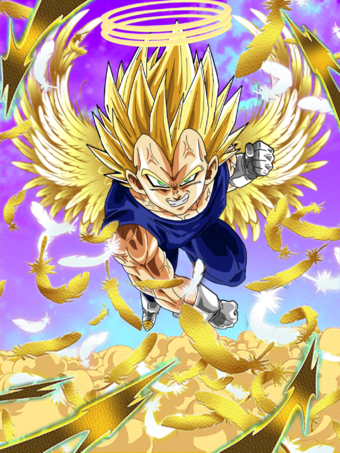 Fake triple angel vegeta cakebuu card