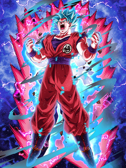 Ungodly Evolution Goku Super Saiyan Blue Kaioken X20 Db