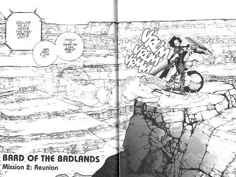 Alita in the Badlands in the manga