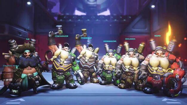 Six Torbjorns Overwatch