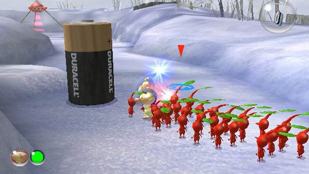 A screenshot of Pikmin 2.