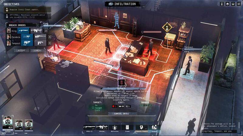 Phantom Doctrine breach into room with guards