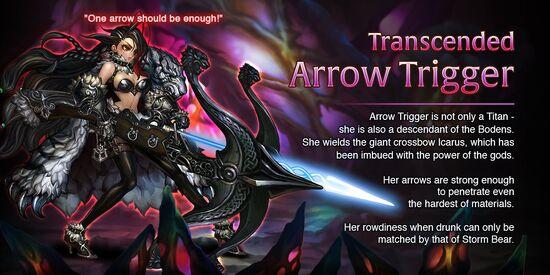 Transcended Arrow Trigger release poster