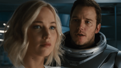 Chris Pratt and Jennifer Lawrence in 'Passengers' Trailer