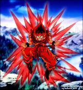 Goku kaioken colored by moncho m89 - Copy