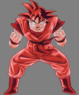 Goku Kaioken by SilverAngels07