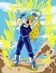 Vegeta Super Saiyan 3 by DragonballXE