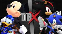 Mickey y Donald vs Shadow y Sonic