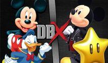 Mickey y Donald vs Red y Sky