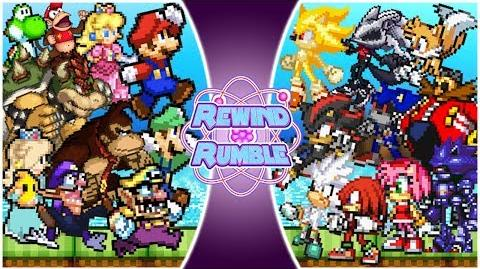 MARIO vs SONIC! TOTAL WAR!! (Mario vs Sonic The Movie) Rewind Rumble-0