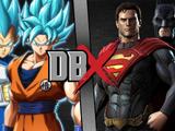 Goku and Vegeta vs Superman and Batman