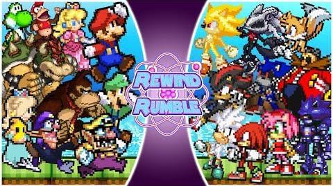 MARIO vs SONIC! TOTAL WAR!! (Mario vs Sonic The Movie) Rewind Rumble-1