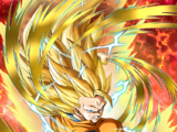 Clutching Victory Super Saiyan 3 Goku
