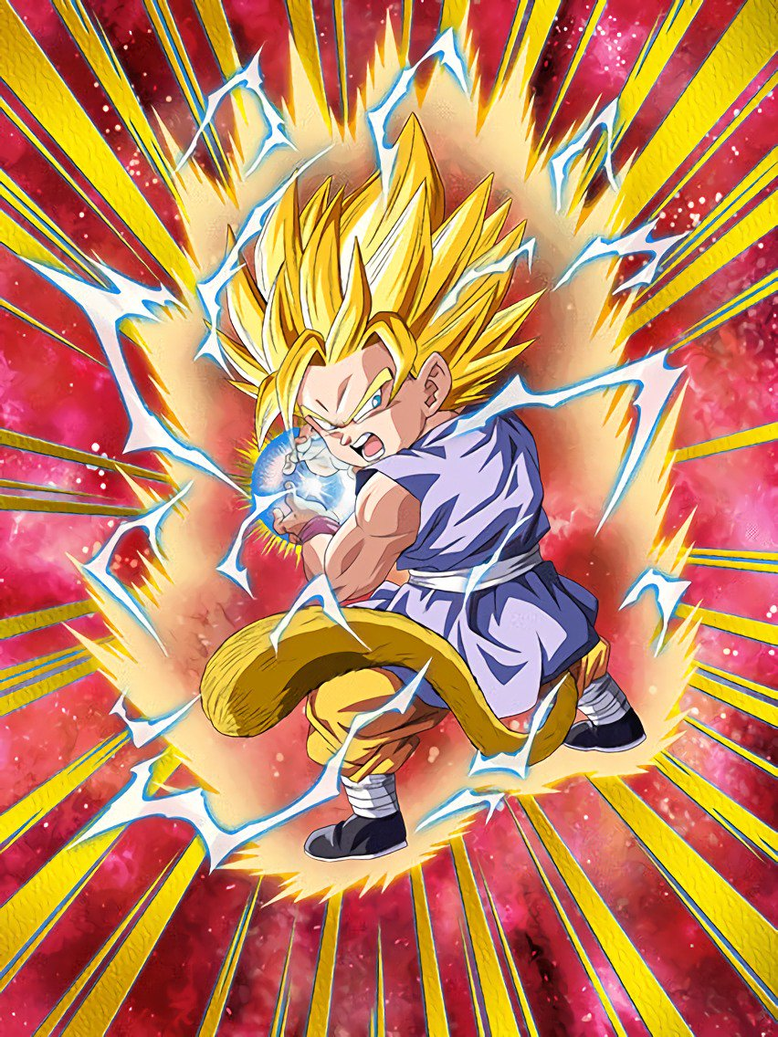 Omens Of Awakening Super Saiyan 2 Goku Gt Dragon Ball Z Dokkan