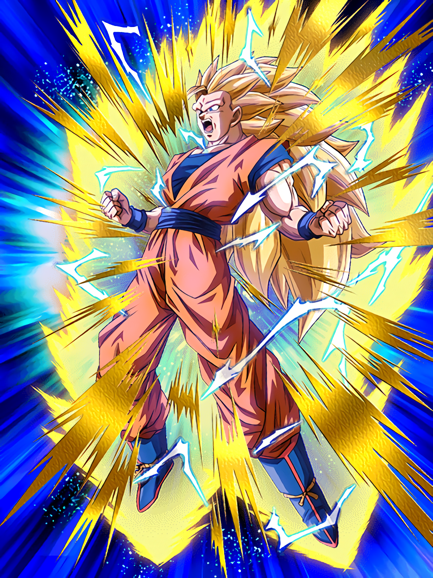 stunning metamorphosis super saiyan 3 goku dragon ball z dokkan