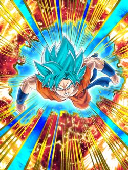Oriented to new Grounds Super Saiyan God SS Goku