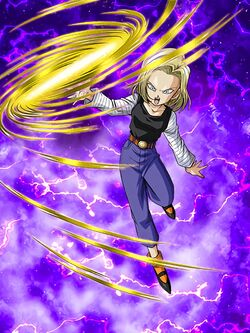 Artwork android 18 ssr str broly