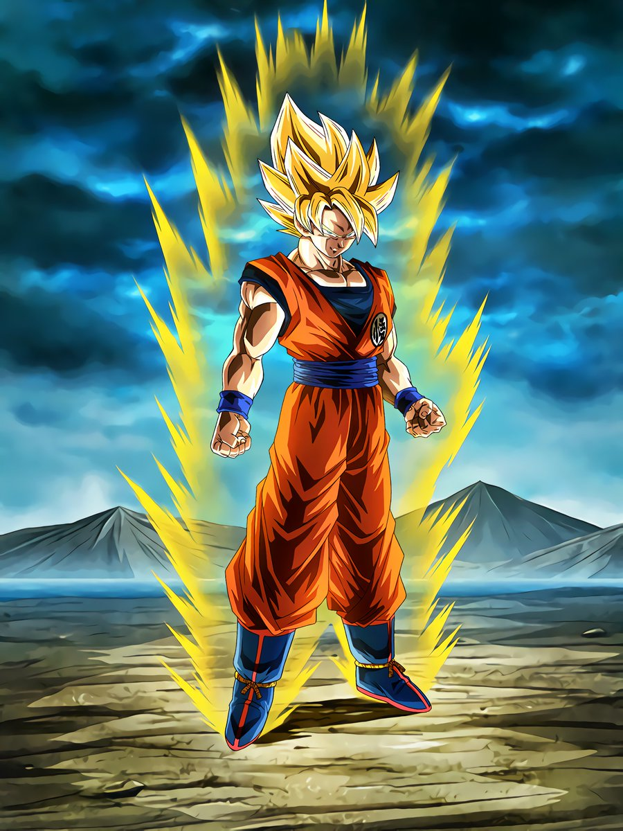 Boiling power super saiyan goku dragon ball z dokkan - Goku 5 super saiyan ...