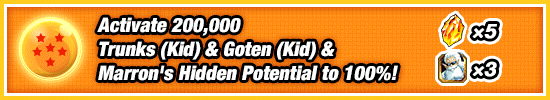 Trunks Goten Marron Hidden Potential