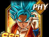 Challenger against God Super Saiyan God SS Goku