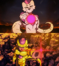DBS Broly Golden Frieza Death Beam