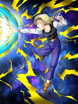 Artwork android 18 ur str dokkan broly