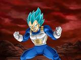Extreme Z-Battle: Passion of the Warrior Race Super Saiyan God SS Vegeta