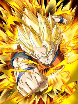 Leaping Even Higher Super Saiyan Goku