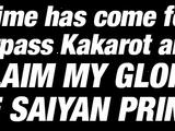 Awakened Saiyan Blood Super Saiyan Vegeta
