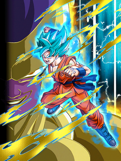 Crusher of Evil Super Saiyan God SS Goku