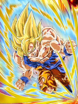 Deadly Awakening Super Saiyan Goku