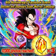 4th Anniversay Become the Legendary Super Warrior 4000
