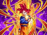 Warrior Beyond Limits and Expectations Super Saiyan God Goku