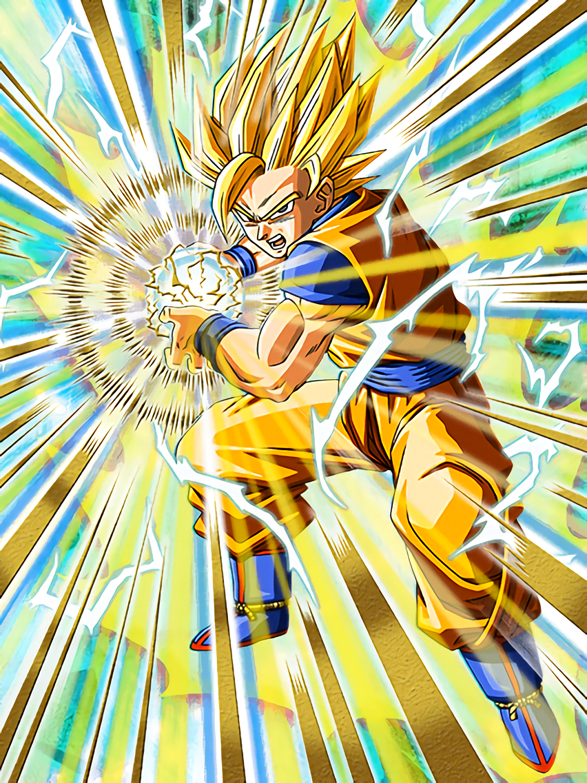 Unlimited power super saiyan 2 goku dragon ball z dokkan - Sangoku super sayen 2 ...