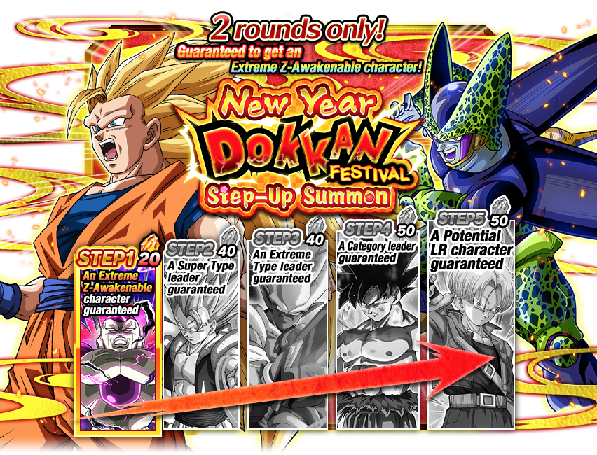 Rare Summon: New Year Dokkan Festival Step-Up Summon