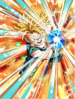 Super Saiyan Trunks (Kid) Card Real