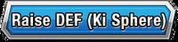 Raise DEF (Ki Sphere) Skill Effect