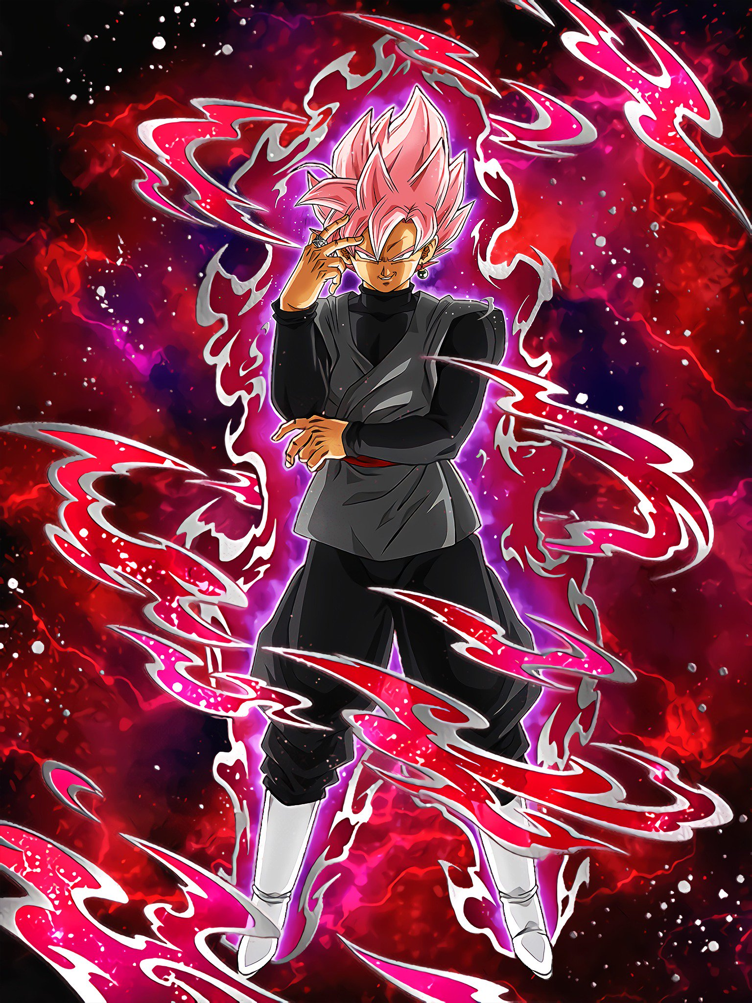 Beautiful Domination Goku Black Super Saiyan Rose Dragon Ball