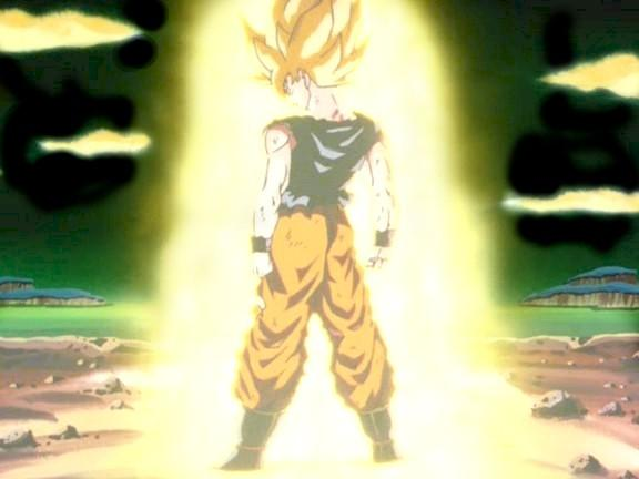 Goku ssj back turned
