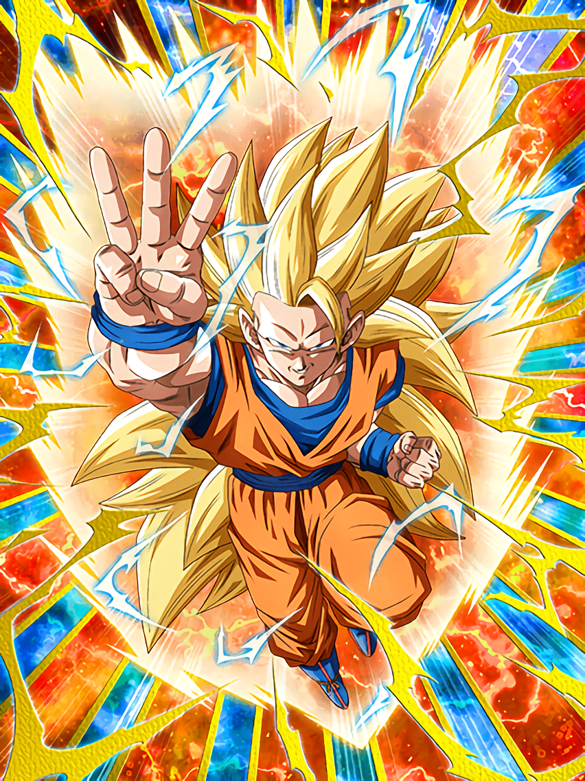 to a faraway world super saiyan 3 goku dragon ball z dokkan battle